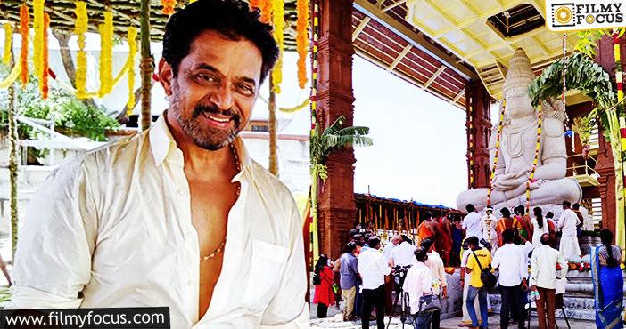 Action King Arjun Built His 17 Year Project Hanuman Temple